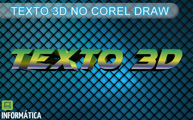 Texto 3D no Corel Draw