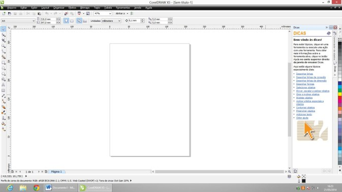 Imagem 01 - Novo documento no Corel Draw